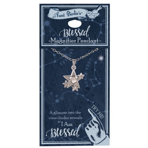 AngelStar I Am Blessed Star Cluster Medallion Pendant Necklace 13885