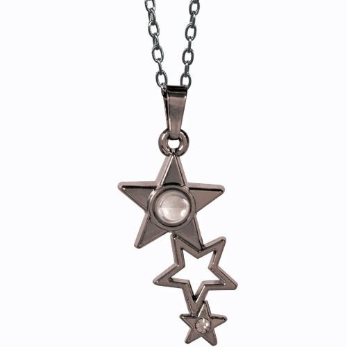 AngelStar I Am Blessed Falling Stars Medallion Pendant Necklace 13887