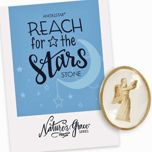 AngelStar Reach for the Stars Follow Your Dreams Pocket Purse Stone Blue 8786