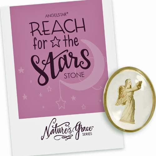AngelStar Reach for the Stars Follow Your Dreams Pocket Purse Stone Pink 8786