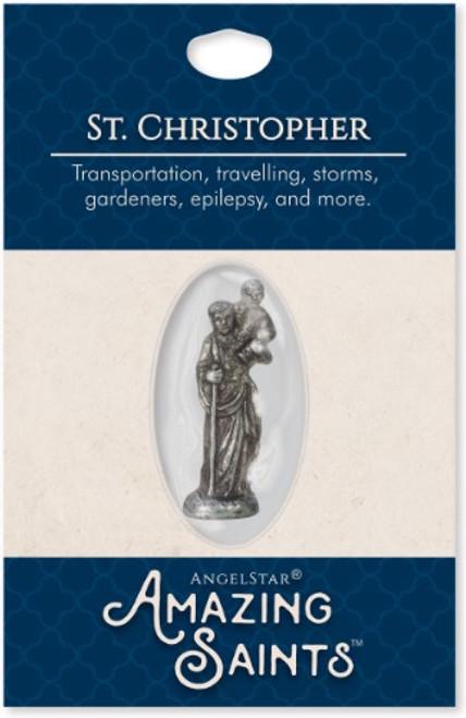 AngelStar Amazing Saints St Christopher Pocket Purse Shield 2333