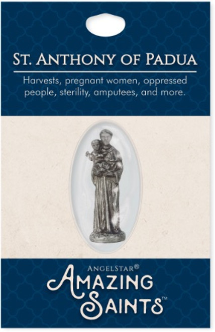 AngelStar Amazing Saints St Anthony Padua Pocket Purse Shield 2332