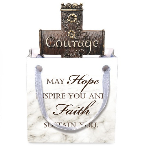 AngelStar Double Sided Floral Cross Crucifix Courage Strength 20200