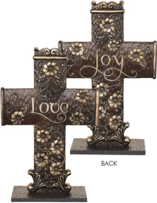 AngelStar Double Sided Floral Cross Crucifix Love Joy 20200