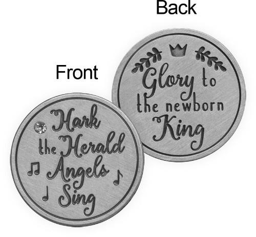 AngelStar Hark the herald angels sing Christmas Token Pocket Purse Coin 15543