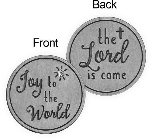 AngelStar Joy to the World Christmas Token Pocket Purse Coin 15546