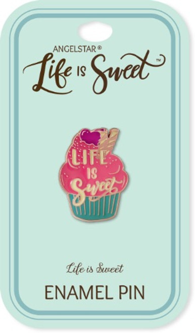 AngelStar Life is Sweet Cupcake Enamel Lapel Pin 18111