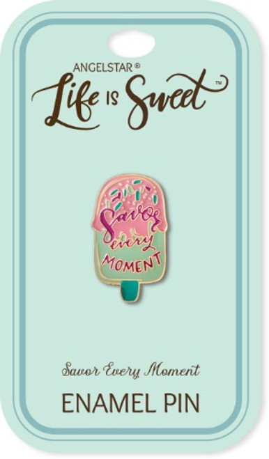 AngelStar Life is Sweet Popsicle Savor Every Moment Enamel Lapel Pin 18113