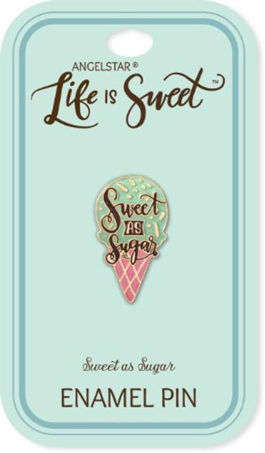 AngelStar Life is Sweet Ice Cream Waffle Sugar Cone Enamel Lapel Pin 18115