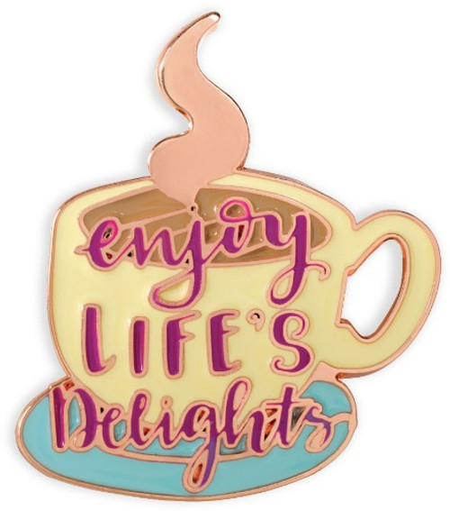 AngelStar Life is Sweet Coffee Latte Cocoa Enjoy Lifes Delights Enamel Lapel Pin 18116