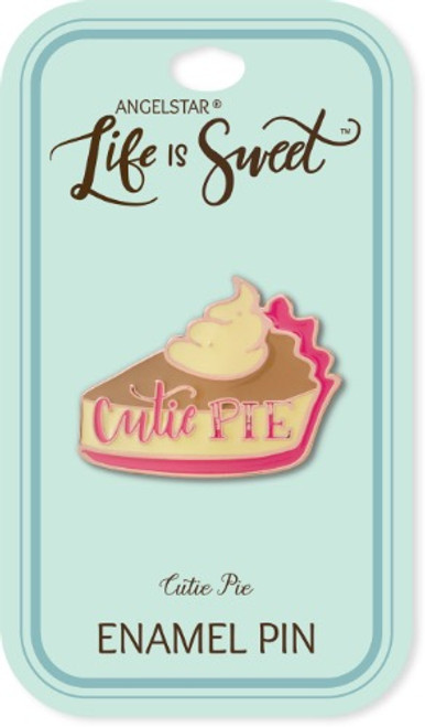 AngelStar Life is Sweet Cutie Pie Slice Enamel Lapel Pin 18117