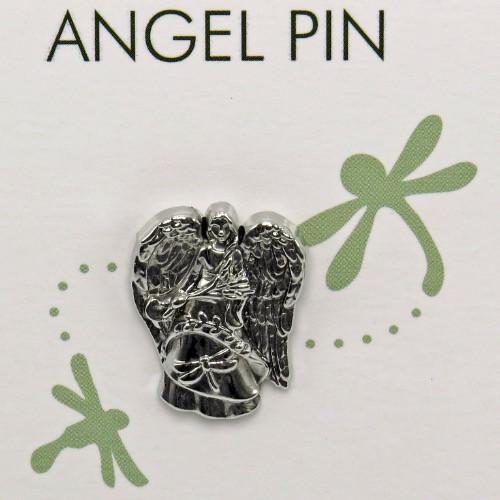 AngelStar Joy Dragonfly Natures Grace Silver Tone Angel Lapel Pin 15936