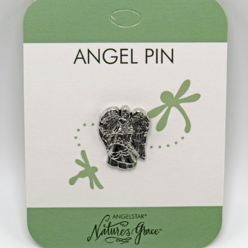 AngelStar Joy Dragonfly Natures Grace Silver Tone Angel Lapel Pin 15936