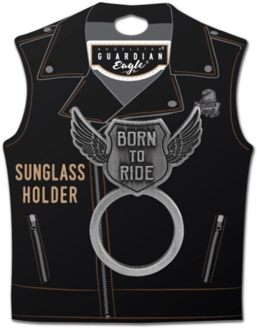 AngelStar Born to Ride Biker Motorcycle Sunglass Holder Pin 17522