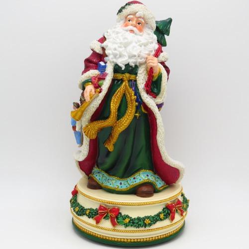 Holiday Treasures Father Christmas Santa  Music Figure 50834
