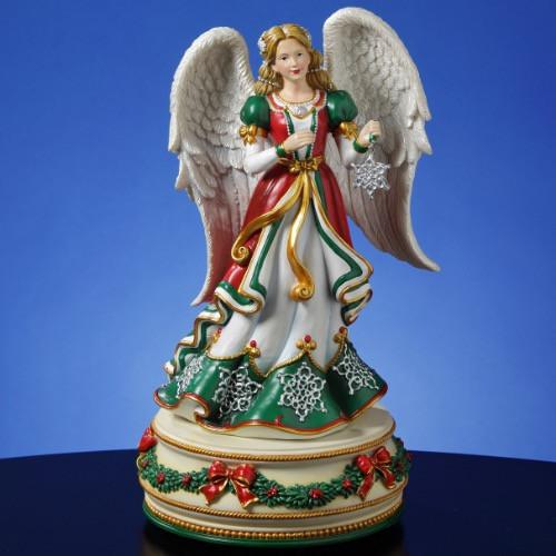 Holiday Treasures Christmas Snowflake Angel Music Figure 50476