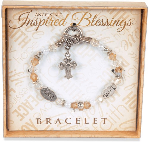 AngelStar Inspired Blessing Hope Love Bracelet 19217