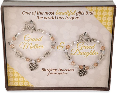 AngelStar Inspired Blessing Grand Mother Daughter Bracelet 19244