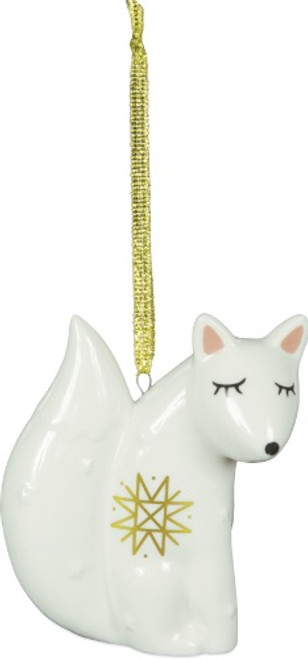 AngelStar Winter Wonderfull White Fox Spirit Totem Ornament 20421