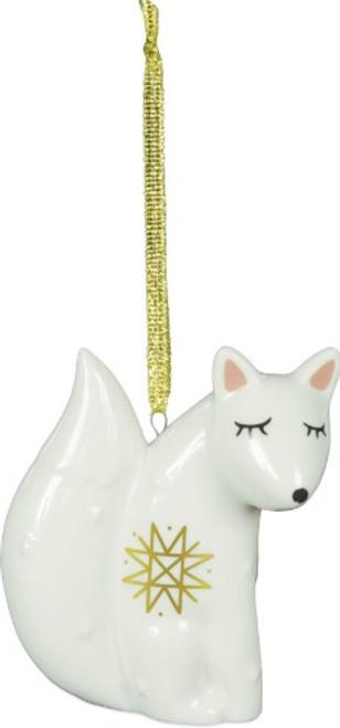 AngelStar Winter Wonderfull White Fox Spirit Totem Ornament 20421