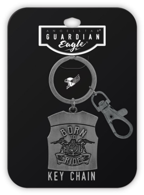 AngelStar Guardian Eagle Born to Ride Key Chain 17433