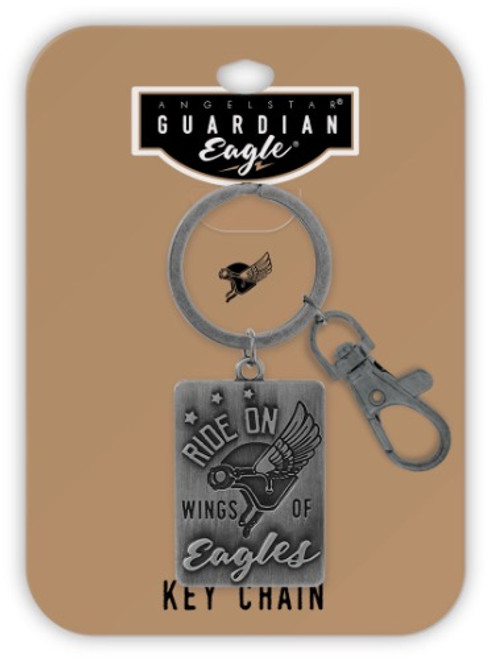 AngelStar Guardian Eagle Ride on Wings of Eagles Key Chain 17436