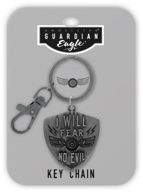 AngelStar Guardian Eagle Faith I will Fear No Evil Biker Key Chain 17504