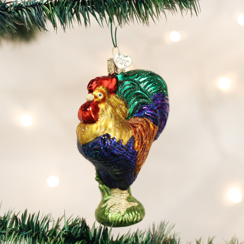 Old World Christmas Heirloom Rooster Ornament Misa del Gallo 16092
