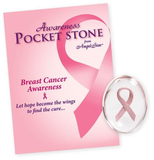 AngelStar Pink Ribbon Cancer Awareness Pocket Purse Stone 8771