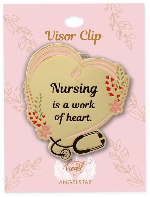 Edit a Product - AngelStar Nursing is a Work of Heart Visor Clip 14873 hang tag