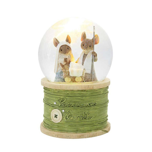 Tails With Heart Mouse Mice Peace On Earth Nativity Water Globe 6003919