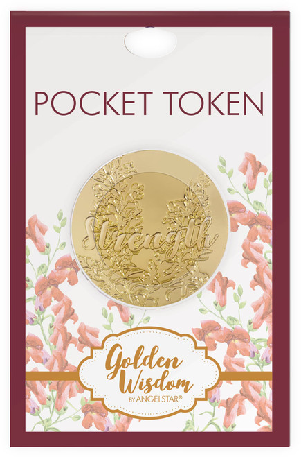 AngelStar Golden Wisdom Scripture Strength Philippians Coin Pocket Purse 16282 package