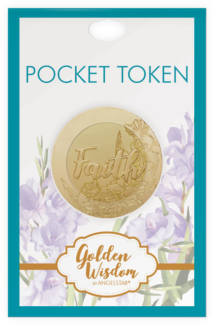 AngelStar Golden Wisdom Scripture Faith Corinthians Coin Pocket Purse 16284 display