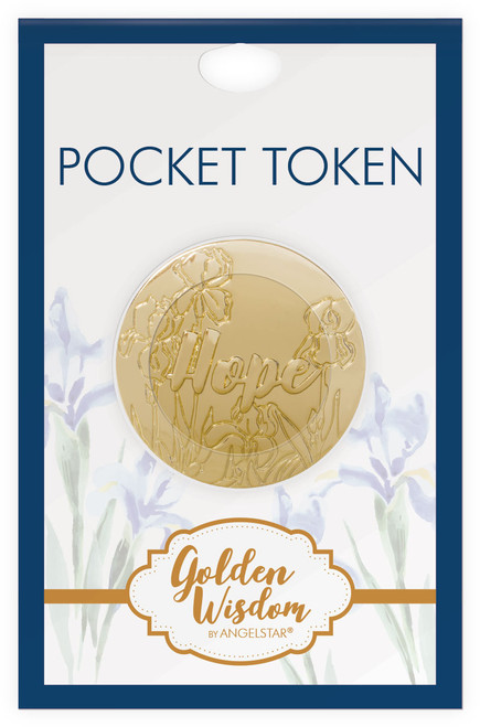 AngelStar Golden Wisdom Scripture Hope Psalm Coin Pocket Purse 16285 package
