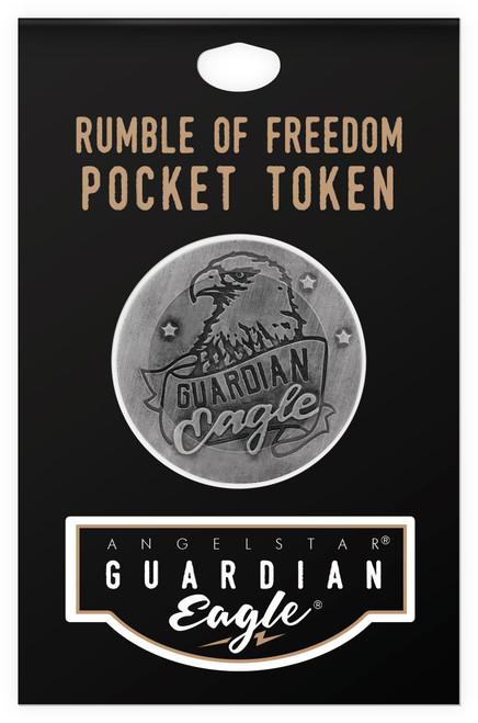 Guardian Eagle Rumble of Freedom Biker Motorcycle Pocket Token 17443 package