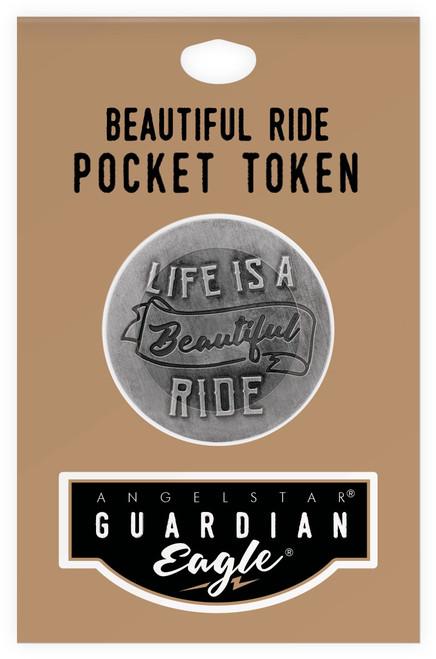 Guardian Eagle Life is a Beautiful Ride Biker Motorcycle Pocket Token 17444
