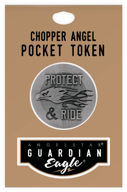 Guardian Eagle Chopper Angel Protect & Ride Biker Motorcycle Pocket Token 17446 package