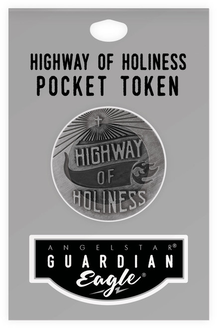 Guardian Eagle Faith Chariot of Salvation Biker Motorcycle Pocket Token 17482 package