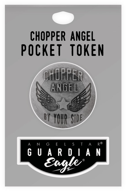 Guardian Eagle Faith Chopper Angel By Your Side Biker Motorcycle Pocket Token 17484 package