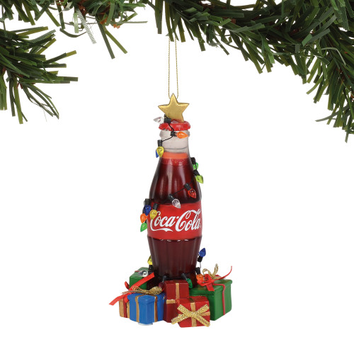 Department 56 Buy the World a Coke Bottle Musical Ornament 6000450