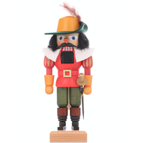 Christian Ulbricht Nutcracker Musketeer with Cloak and Sword 32-674 Front