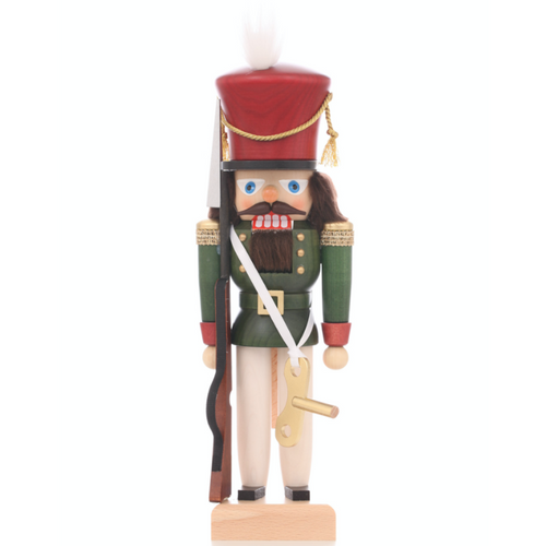 Christian Ulbricht Nutcracker Toy Soldier Music Box Key Rifle German 32-676 front