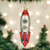 Old World Christmas Rocket Space Ship Ornament 44125