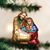 Holy Family Mary Joseph Baby Jesus Ornament Old World Christmas 10207 display stock