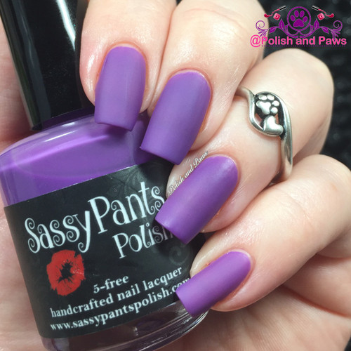 """Pucker Up"" Valentines '16 ""First Crush"" Collection  Swatch by Polish and Paws/ Three coats shown."
