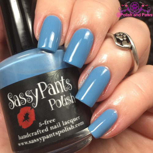 """""""Blue Moon"""" from the Spring '16 Ice Cream Social Collection.  Two easy coats and top coat by Polish and Paws."""