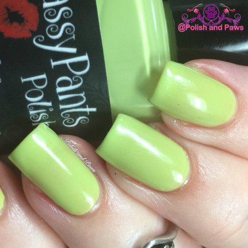 """""""Coconut Lime"""" from the Spring '16 Ice Cream Social Collection.  Two easy coats and top coat by Polish and Paws."""