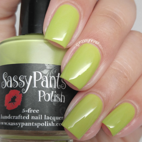 """Coconut LIme"" from the Spring '16 Ice Cream Social Collection.  Two easy coats and top coat by Manicured and Marvelous."