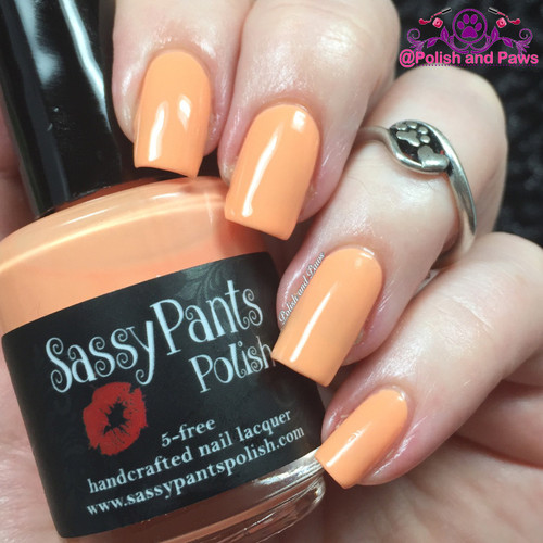 """""""Orange Serbet"""" from the Spring '16 Ice Cream Social Collection.  Two easy coats and top coat by Polish and Paws."""