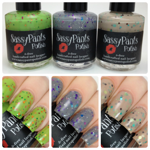 Crazy 4 Crellies Custom Trio  Swatches by CDBNails